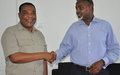 SRSG Mahiga meets with Mogadishu Mayor Tarzin